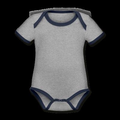 Baby Bio Kurzarm Kontrastbody individuell selbst gestalten mit dem Designtool