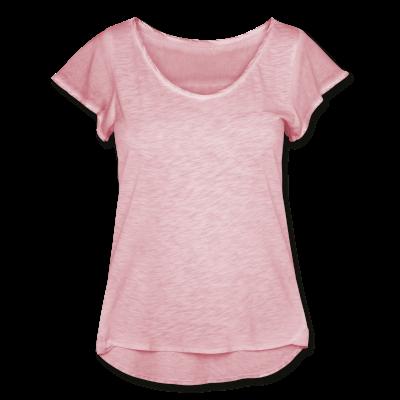 Frauen T-Shirt Flatterärmel im Used Look individuell selbst gestalten