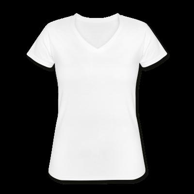 Frauen T-Shirt klassisch V-Ausschnitt individuell selbst gestalten