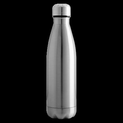 Isolierflasche silber individuell online selbst gestalten