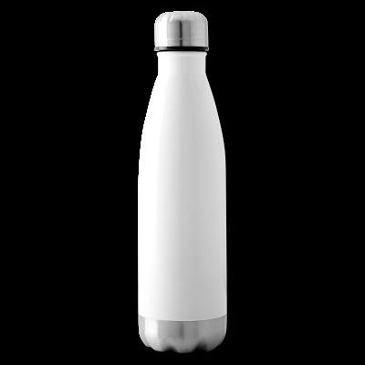 Isolierflasche weiß individuell online selbst gestalten